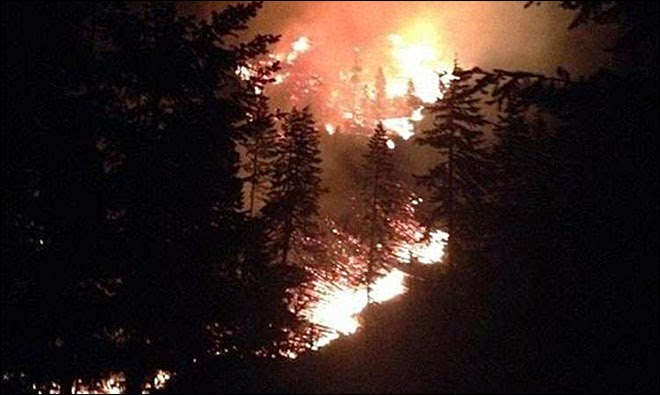 Wildfire near Hood River