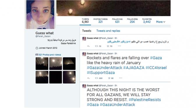 Curhat Gadis Palestina di Gaza Lewat Twitter