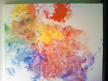 Painting made by baby