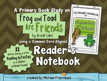 http://www.teacherspayteachers.com/Product/Book-Study-Frog-and-Toad-Are-Friends-A-Readers-Notebook-804776