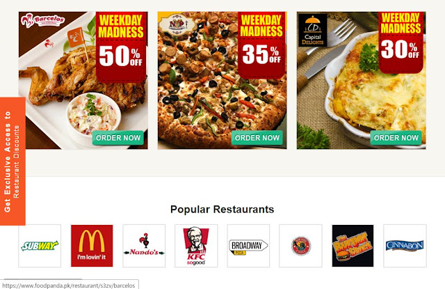 order food online from home in pakistan at foodpanda