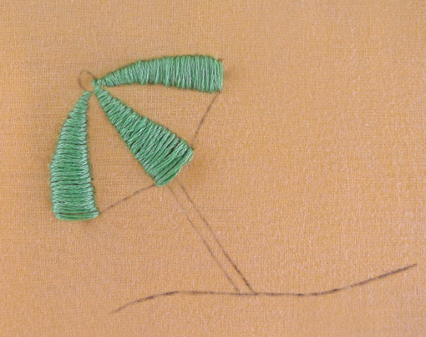 embroidery, umbrella