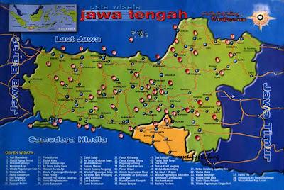 Peta Wisata Jawa Tengah