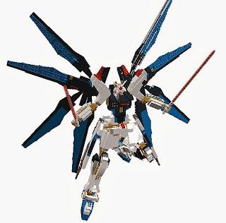 Lego-block-type Strike Freedm Gundam