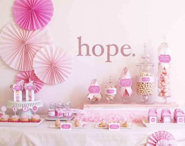 Think Pink party printables