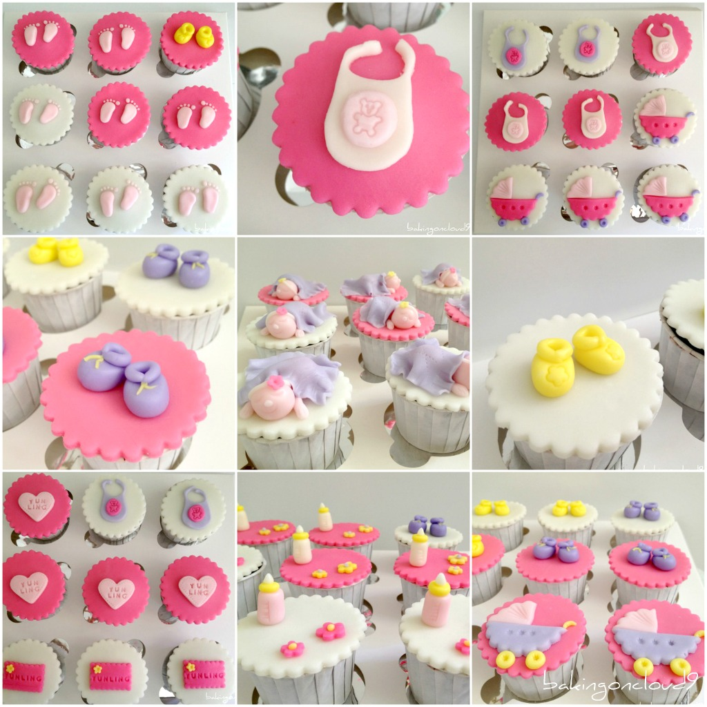 Baking on cloud 9 full month celebration for Baby full month decoration ideas