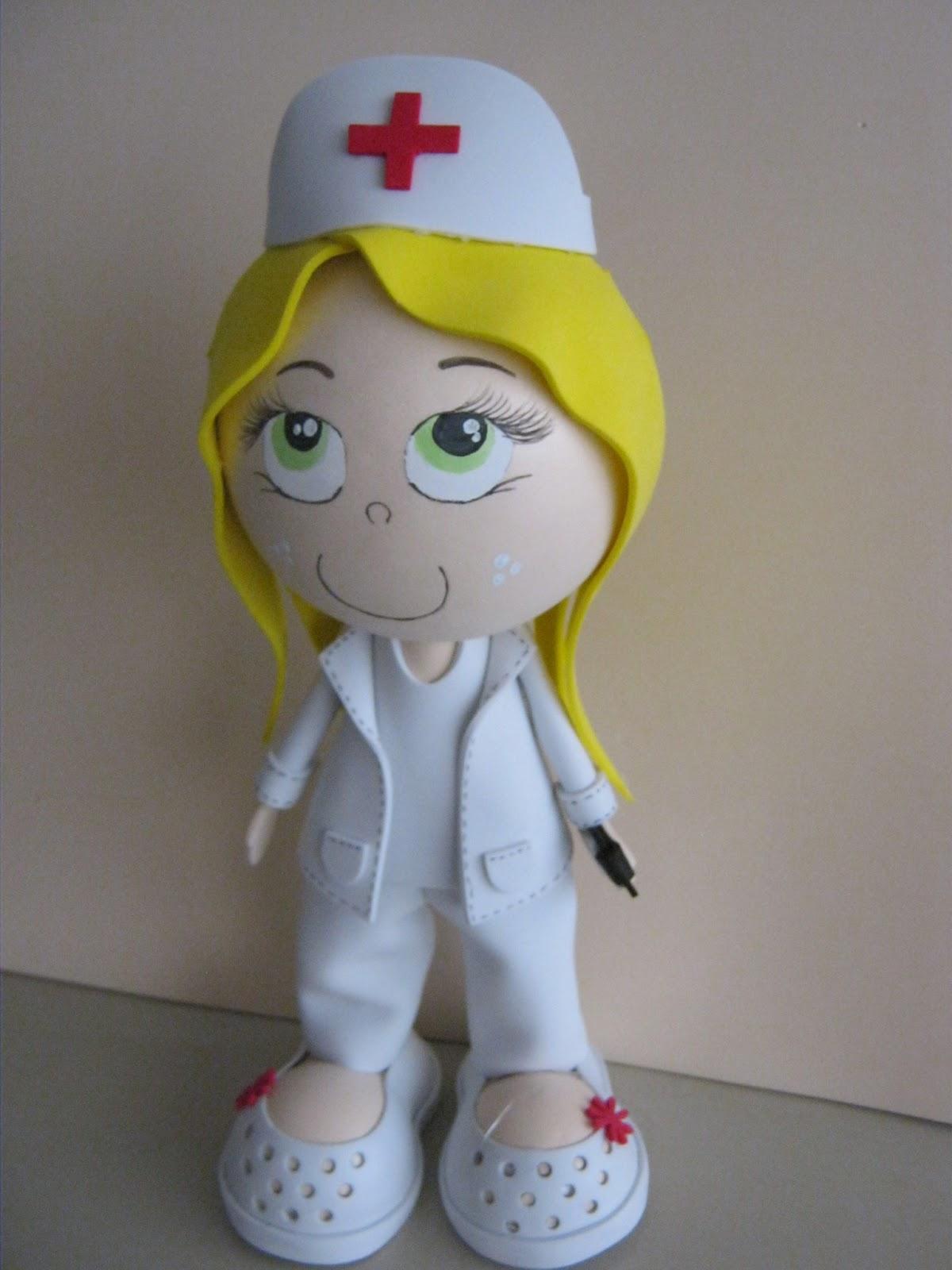 Enfermera de cuerpo de programa de canal