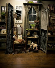 The Curtain/ Rugs Areas