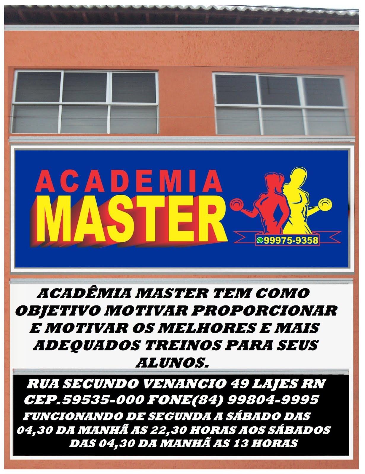 ACADÊMIA MASTER LAJES//RN