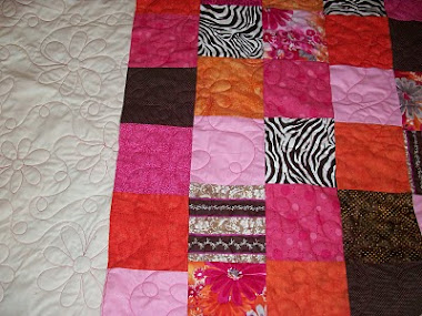 A young girl's first quilt