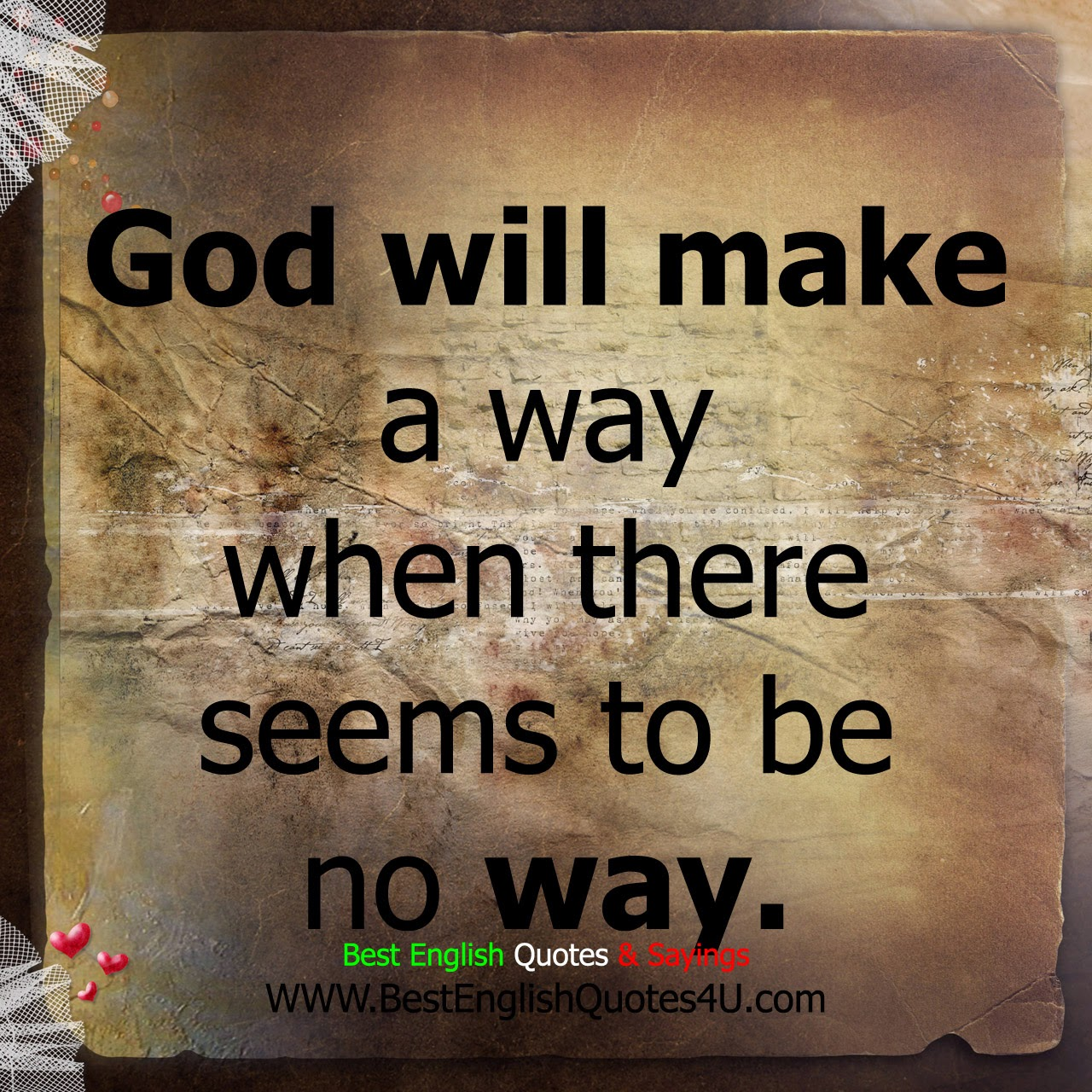 God Quotes God Will Make A Way Best'english'quotes'&'sayings