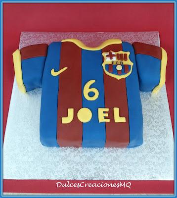 Tarta Pastel Cumpleaños Barcelona Barça Fútbol Bizcocho Chocolate Buttercream Vainilla Niño