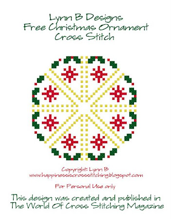 Free Cross stitch ornament pattern