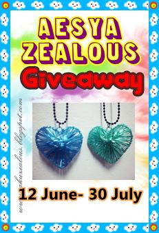 Aesya Zealous 2nd Giveaway