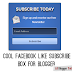 Cool Facebook Like Subscribe Box Widget