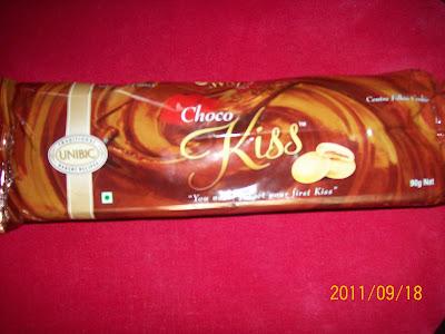 unibic cookies , choco kiss