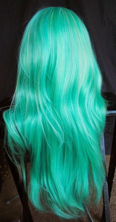 Pelos Color Fantasia Blanca Y Verde