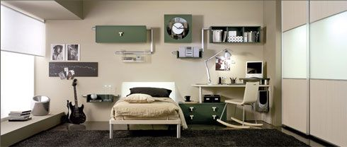 Kids-Bedrooms-Design-Ideas-With-Army-Color-Creation
