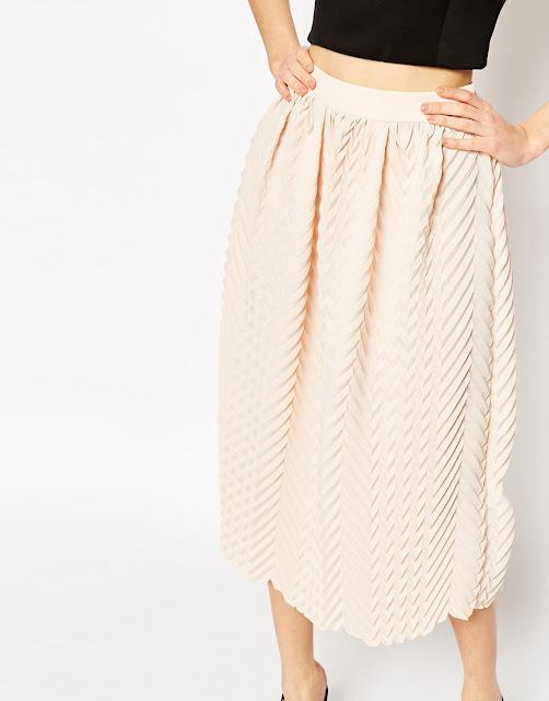 peach skirt, peach midi skirt,