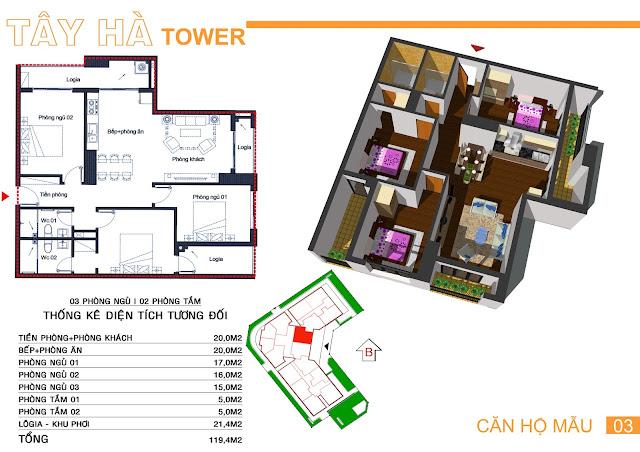 Căn 03 Tây hà tower