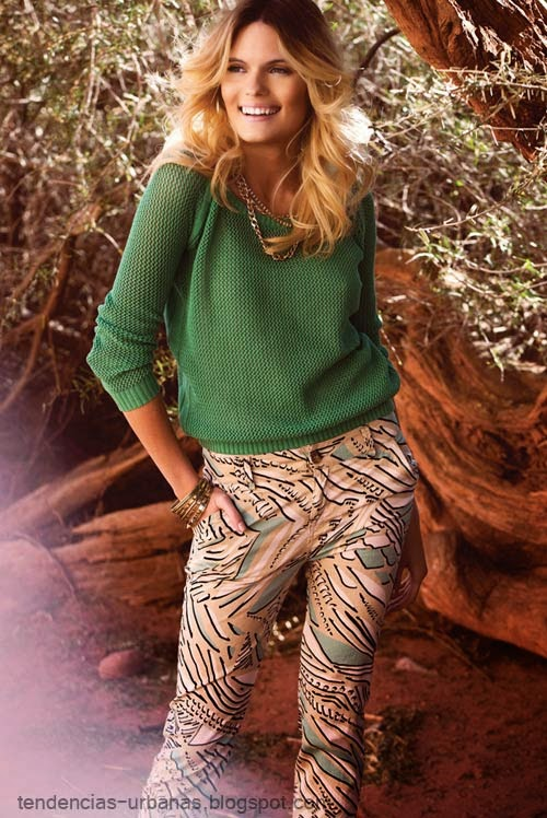 sweater tejido calado color verde Markova verano 2015