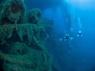 Scuba Tech Diving Centre dives the Zenobia wreck in Cyprus