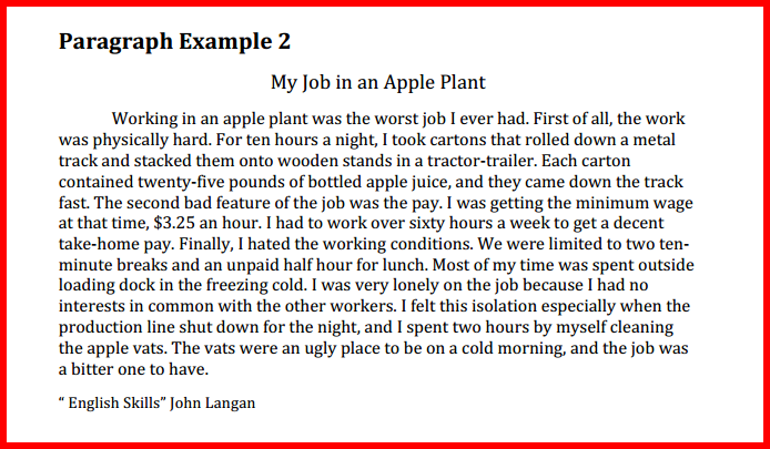 narrative essay worst job