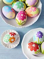 Великденски яйца на цветя направени с декупаж