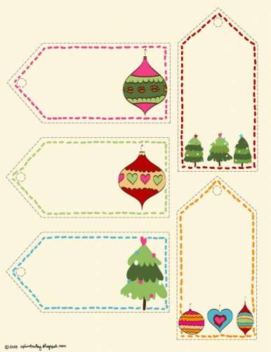 Printable Christmas Gift Tags Templates | New Calendar Template Site
