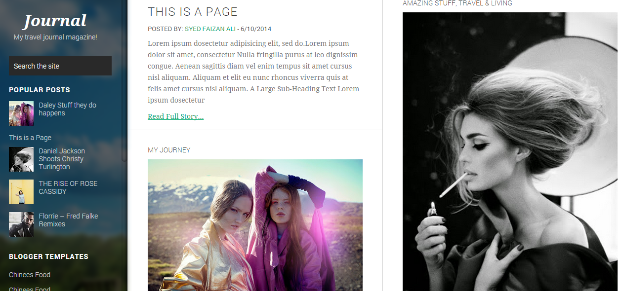 Download Journey Free Blogger Templates