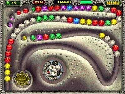 Zuma Deluxe gameplay