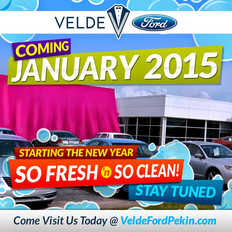 Coming to Velde Ford in January 2015....