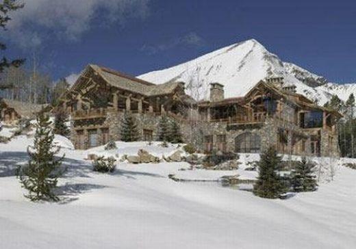 155 juta ini dimiliki oleh Tim Blixseth di Montana. Rumah ini unik ...