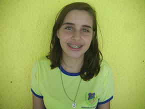 1ª Colocada Geral na escola, aluna Lorena Collares do 7º Ano A, ficou com média final 10, Parabéns