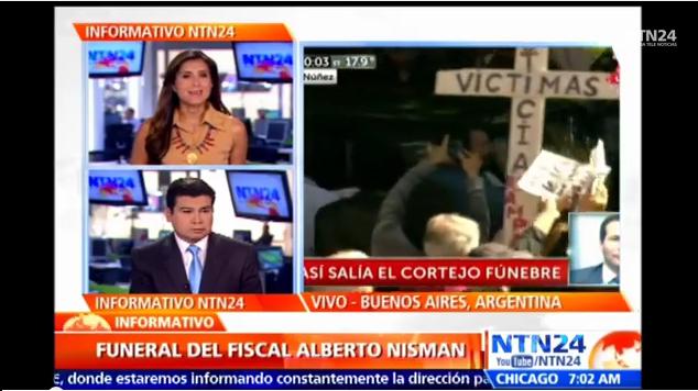 Juan Anibal Gómez en Infome Internacional Velorio Nisman