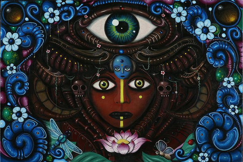 La fantasía se reúne con el arte folclórico: Pinturas afrocaribeños inspiradas por Paul Lewin