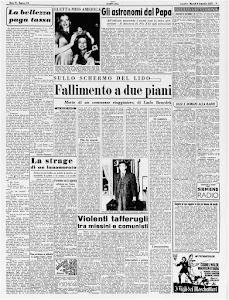 STAMPA SERA 9 SETTEMBRE 1952