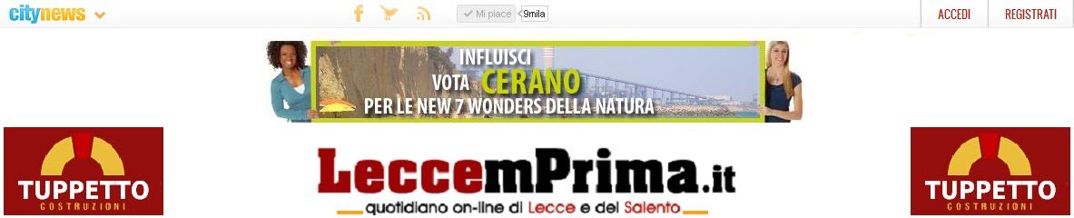 Lecce 'mPrima.it - Quotidiano on-line del Salento