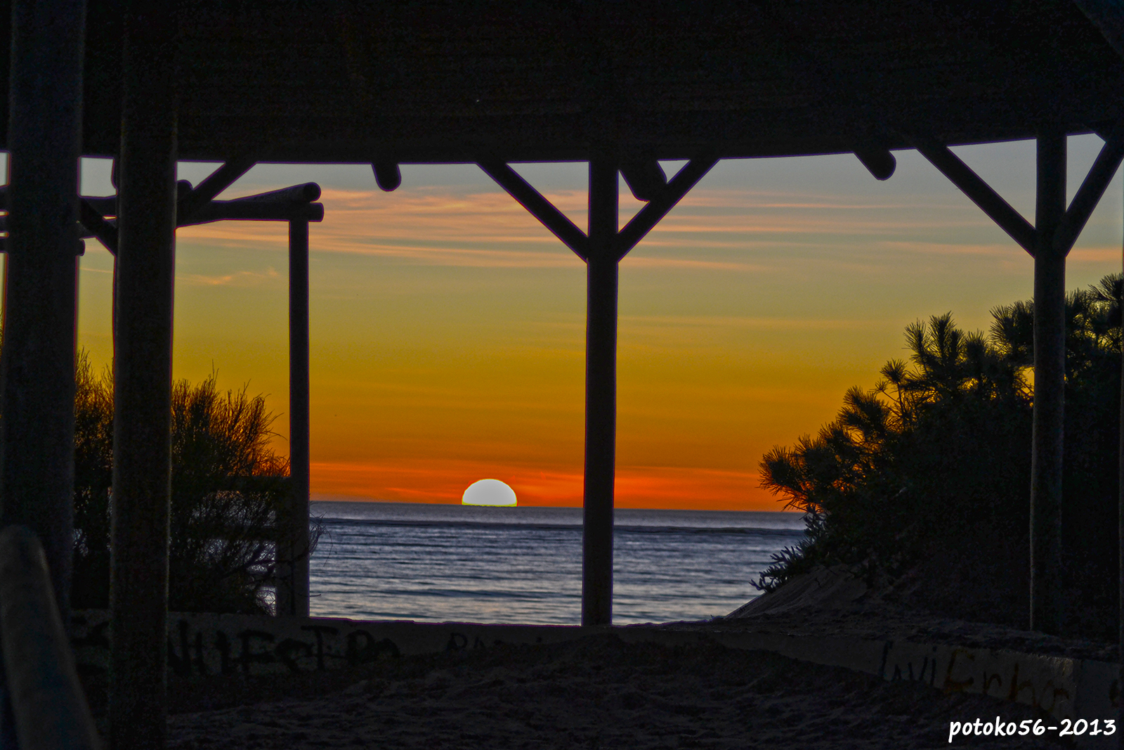 El Sol besando el Horizonte - desde el Mirador