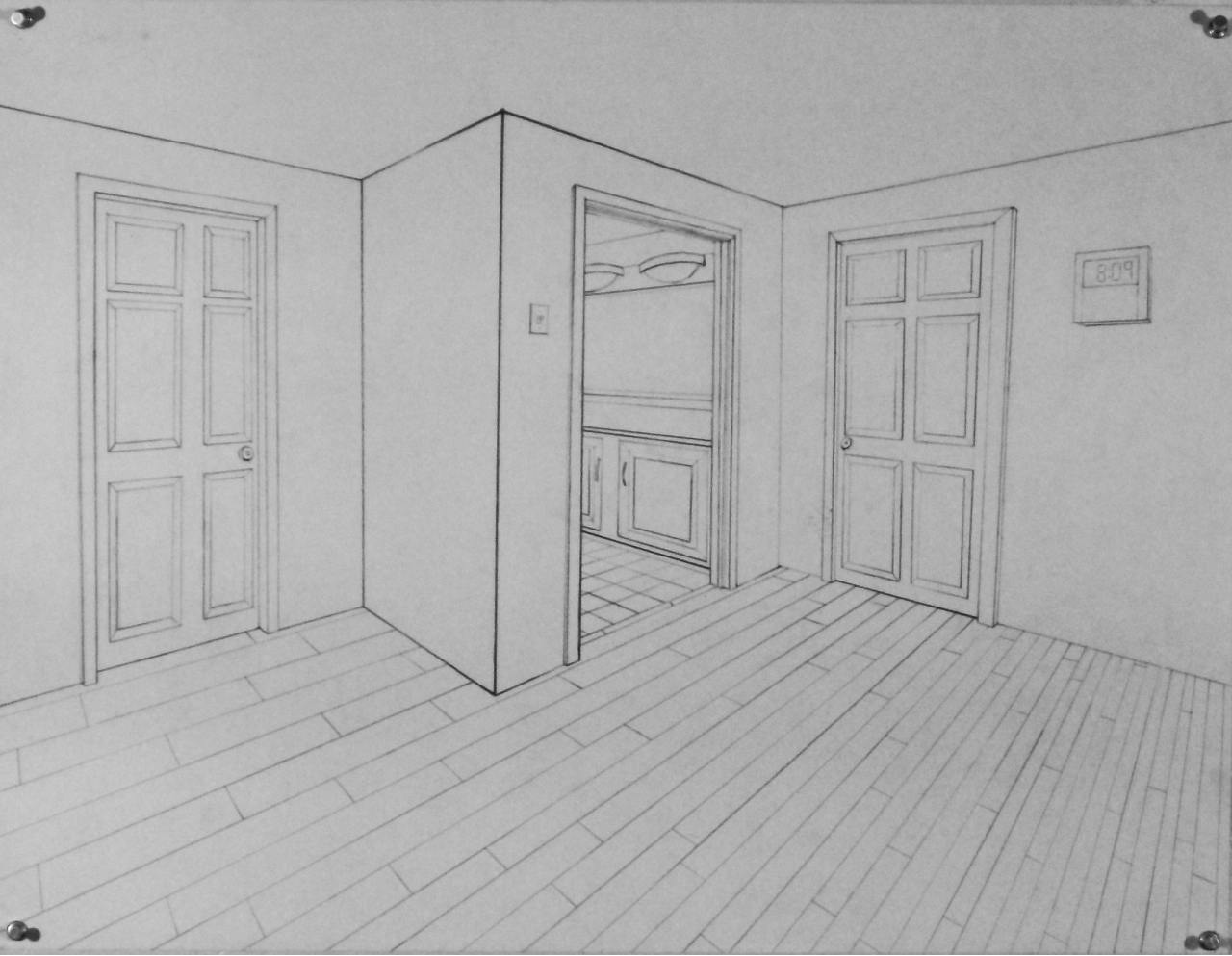 2 Point Perspective Bedroom Sketch Www Pixshark Com