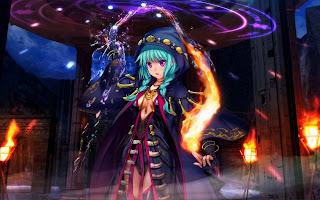 Mage Caster Magician Fire Water Cape Element HD Wallpaper Desktop PC Background 2073