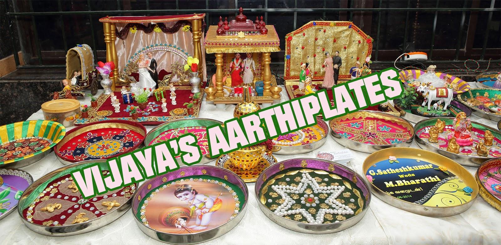 Pin aarti decorations varisai plates pictures genuardis for Arathi thattu decoration