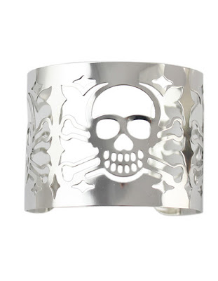 Alloy Silver Plated Skull Head