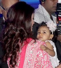 Aishwarya rai with her baby aaradhya bachchan