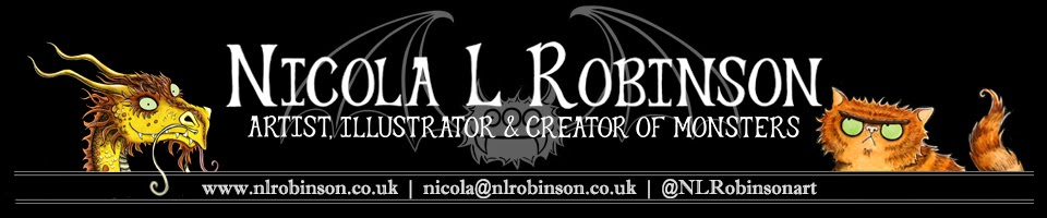 Nicola L Robinson - Artist, illustrator and creator of monsters