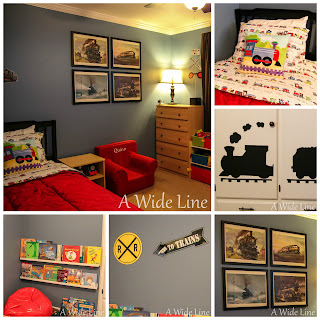A wide line from nursery to big boy bedroom trains for Big boys bedroom ideas