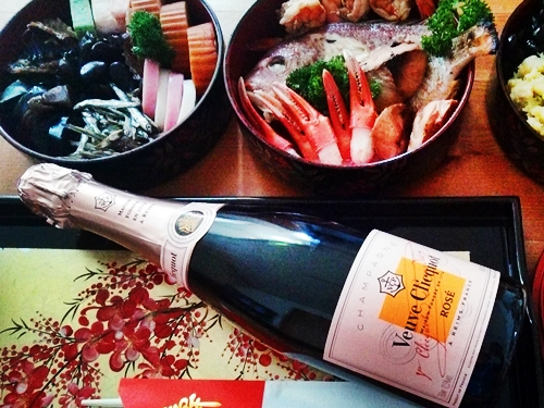 Veuve Clicquot ROSE-Champagne and OSECHI
