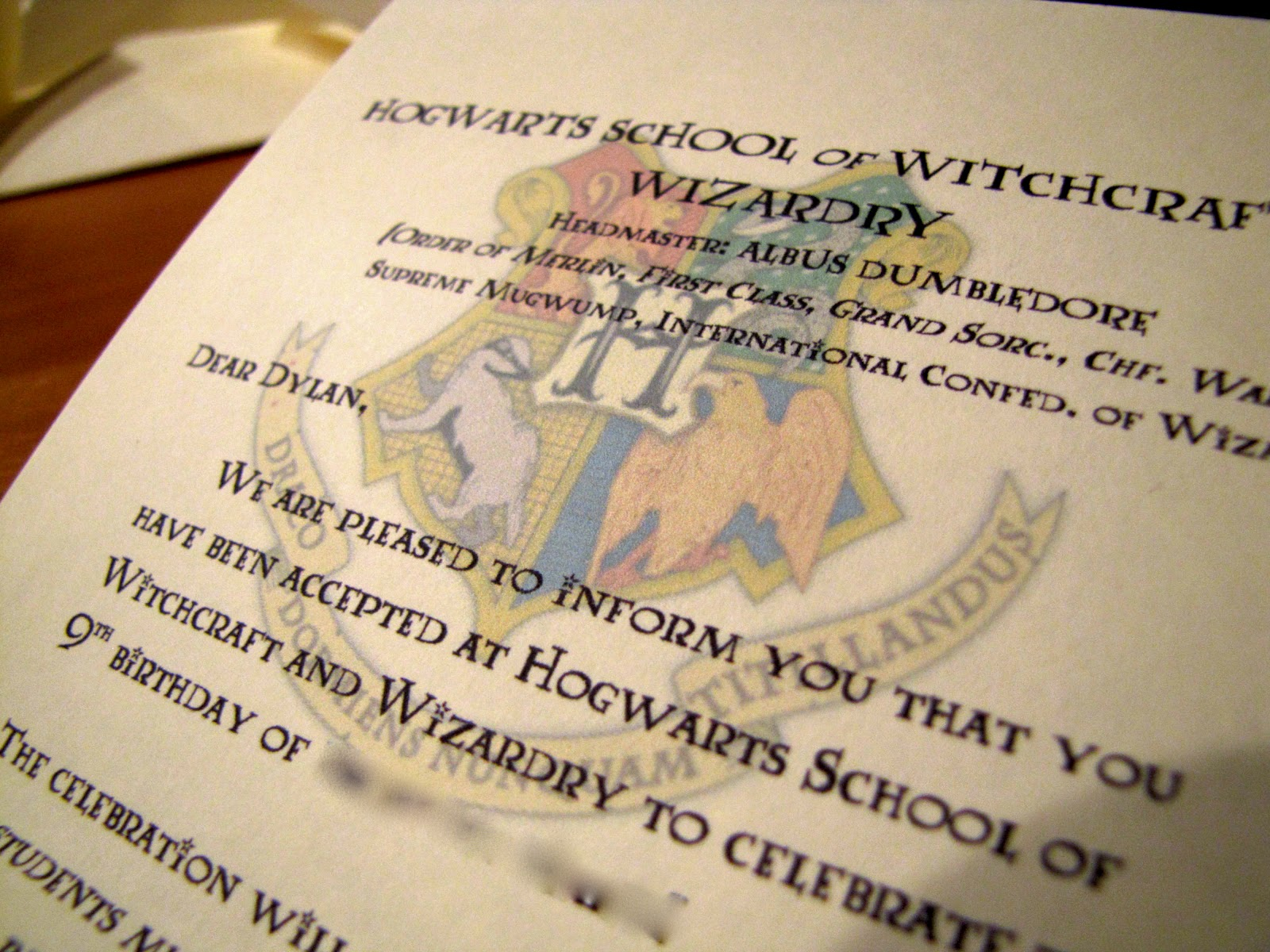 Germerican Adventures Harry Potter Birthday Invitations