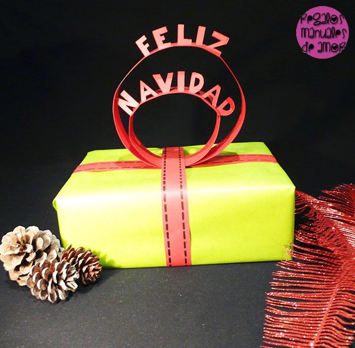 Regalos manuales de amor topper de papel para coronar tus - Papel de regalo original ...