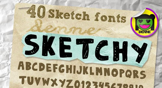 Sketch Fonts For Designers